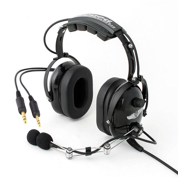 Rugged Radios RA454 Stereo General Aviation Pilot Headset - Professional Aviation Headsets