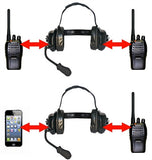 AVComm Bluetooth Dual Radio-Phone Ground Support Headset - Professional Aviation Headsets