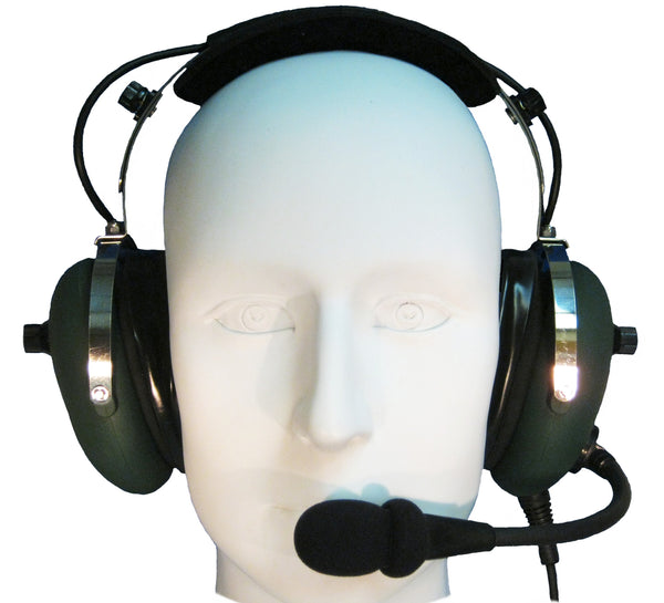 Headsets, Inc. EM-001-AP Stereo ANR Military Aviation Headset