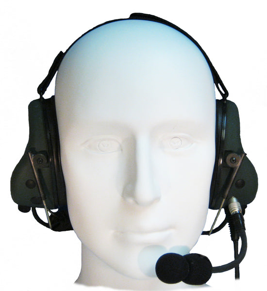 Headsets Inc EM-002-ACH-300-BTH Tactical ANR Military Aviation Headset - Professional Aviation Headsets