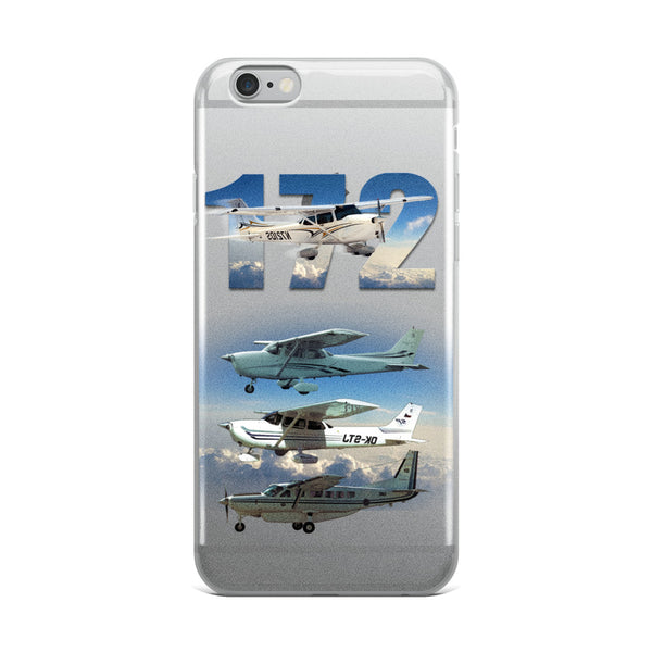 172 plus Three Planes iPhone Case - Professional Aviation Headsets