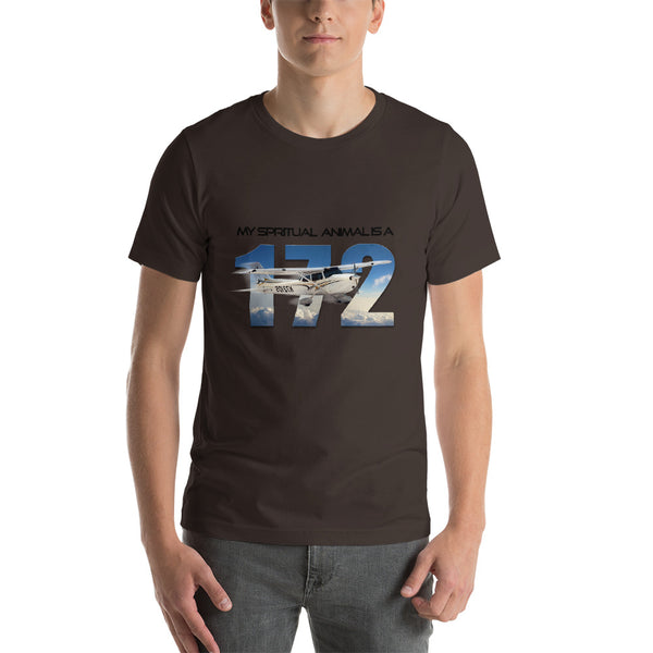 My Spiritual Animal is a 172 Short-Sleeve Unisex T-Shirt - Professional Aviation Headsets