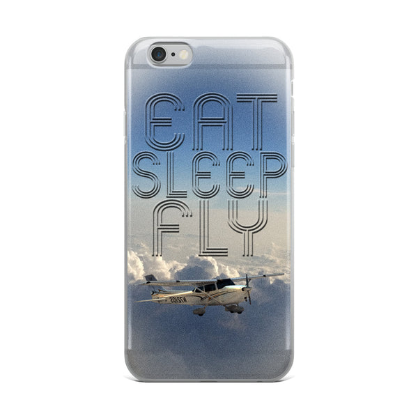 Eat Sleep Fly (with Plane) iPhone Case - Professional Aviation Headsets