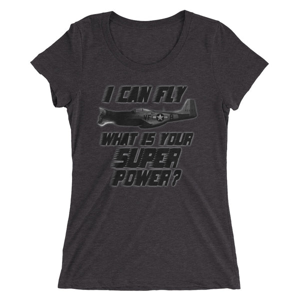 I can fly supercat 2 Ladies' short sleeve t-shirt - Professional Aviation Headsets
