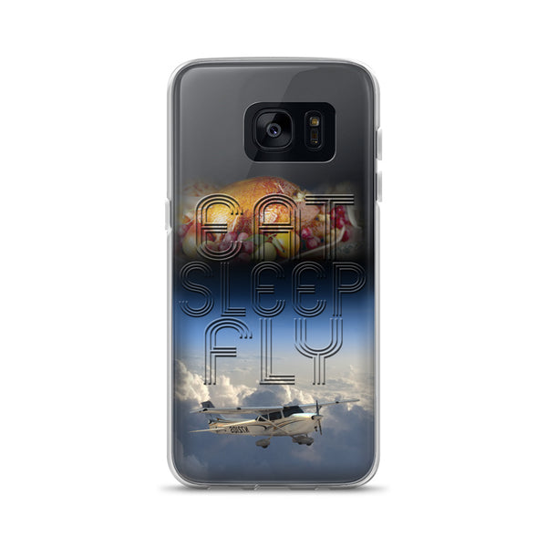 Eat Sleep Fly (New version) Samsung Case - Professional Aviation Headsets