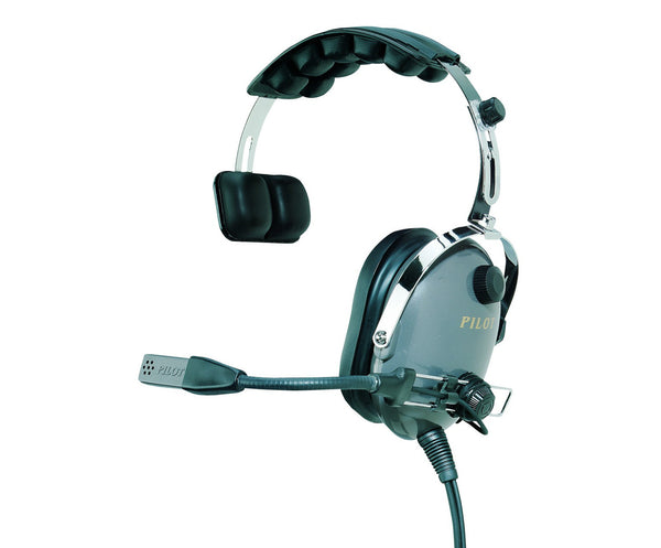 Pilot-USA PA-1110H Helicopter Headset Single Sided Ear Cup - Professional Aviation Headsets