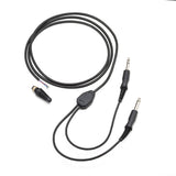 Pilot-USA PA-78 Mono Replacement Headset Comm-cord (Chrome Plugs)