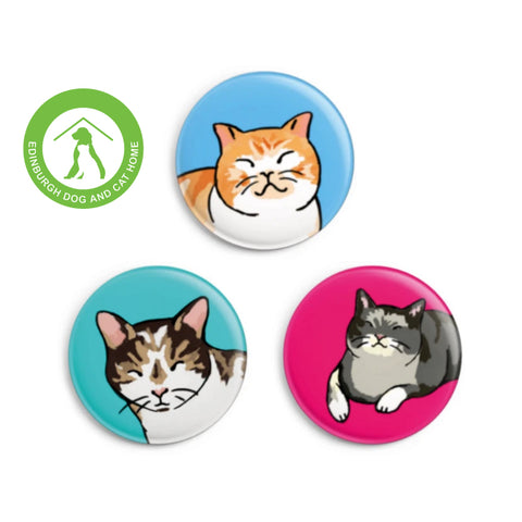 'ARTHUR' CAT BADGE SET