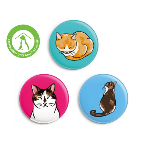 'LILY' CAT BADGE SET