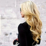 Extensions a clips naturels raides blond