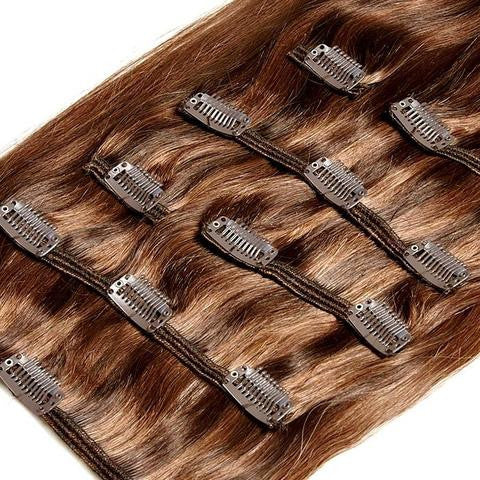 Extension a clip naturel blond dore