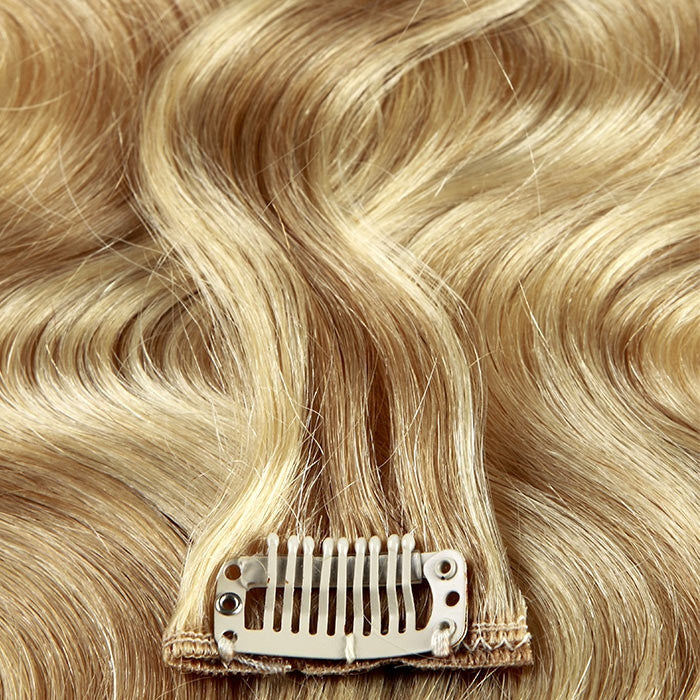 extensions cheveux clip ondul s blond m ch platine 3dcoiffure. Black Bedroom Furniture Sets. Home Design Ideas