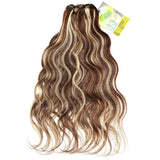 Extension a clip brésiliens chatain méché blond maxi volume