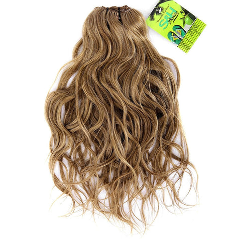 Extension cheveux clip brésiliens noisette maxi volume