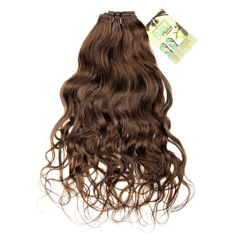Extension cheveux clip brésiliens chocolat maxi volume