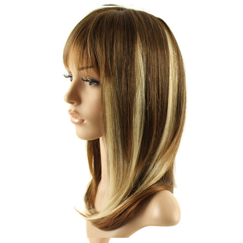 m ches clips pour rajout de cheveux naturels raides blond platine 46 cm 43 g 3dcoiffure. Black Bedroom Furniture Sets. Home Design Ideas