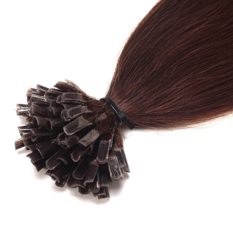 Extensions cheveux naturel raides chocolat