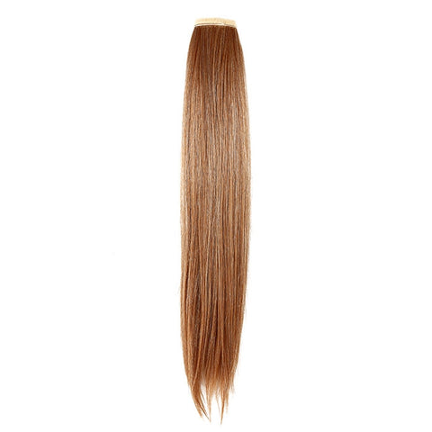 Ponytail straight blond balayage platine