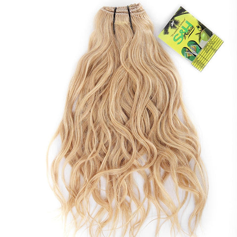 Extension a clips naturel brésiliens ondulé blond mega volume