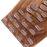 Extension a clips naturel raides blond foncé Sublima™ 240Gr