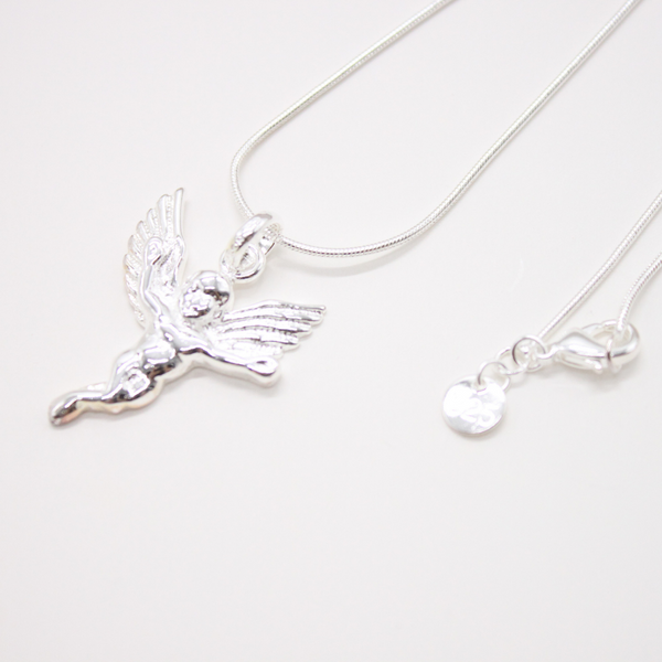 Silver Angel Pendant/Chain