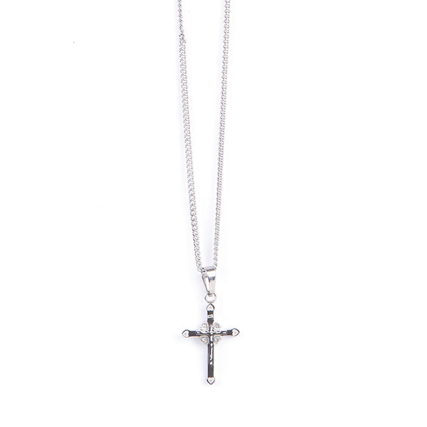 Stainless Steel Ladies Crucifix/Chain