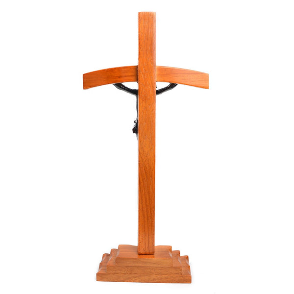 Wood Papal Standing Crucifix
