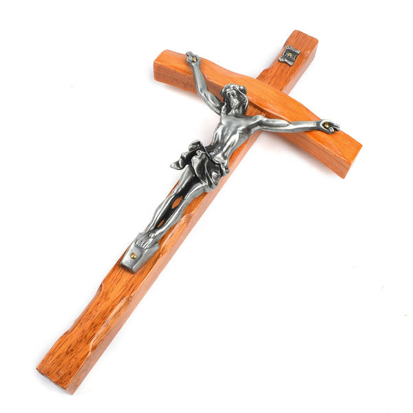 Wood Papal Wall Crucifix
