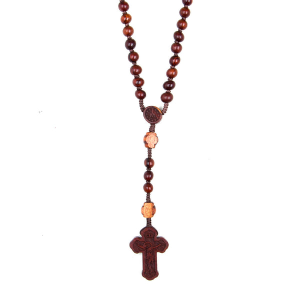 Wooden Carved Rosary
