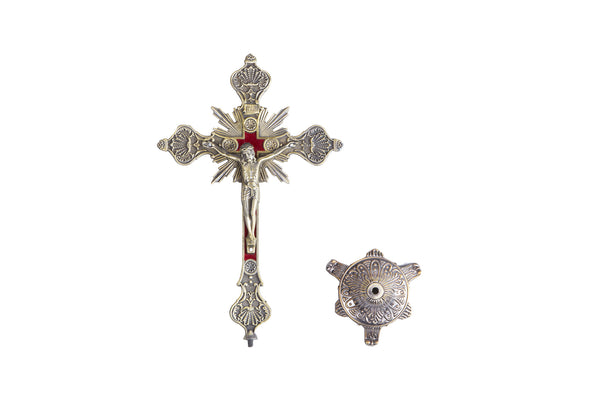 Metal Eucharist Standing Crucifix