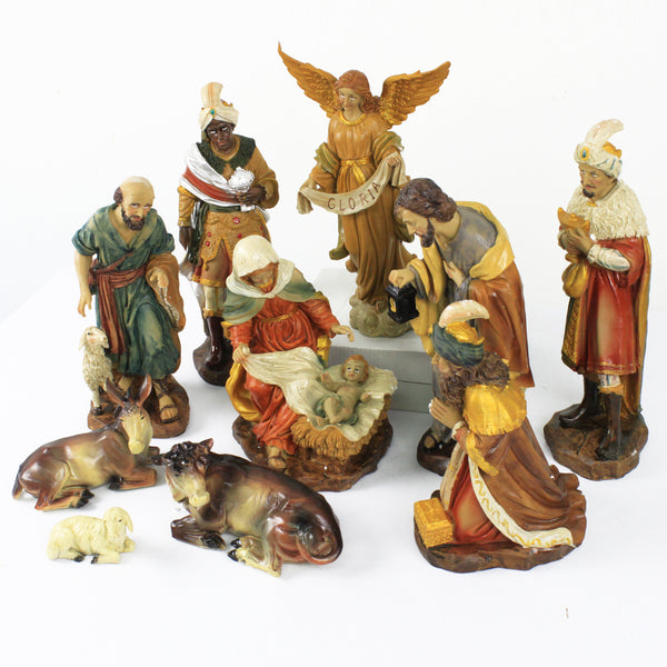 Christmas Polystone Nativity Crib Set 10""