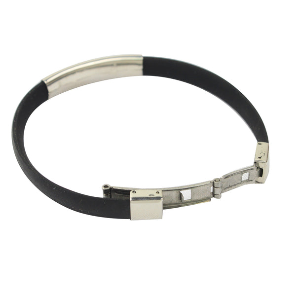Rubber/Stainless Steel Hope Bracelet