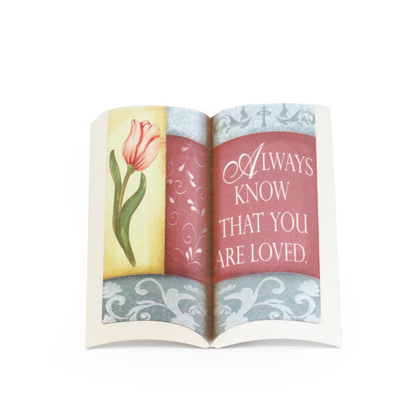 "Stone Book Plaque - ""Always know that you are loved"""