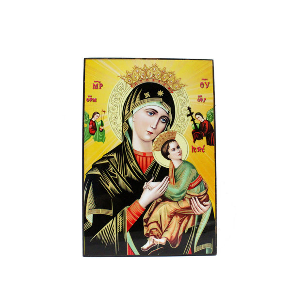 Lacquer Wall Picture - Mother of Perpetual Help