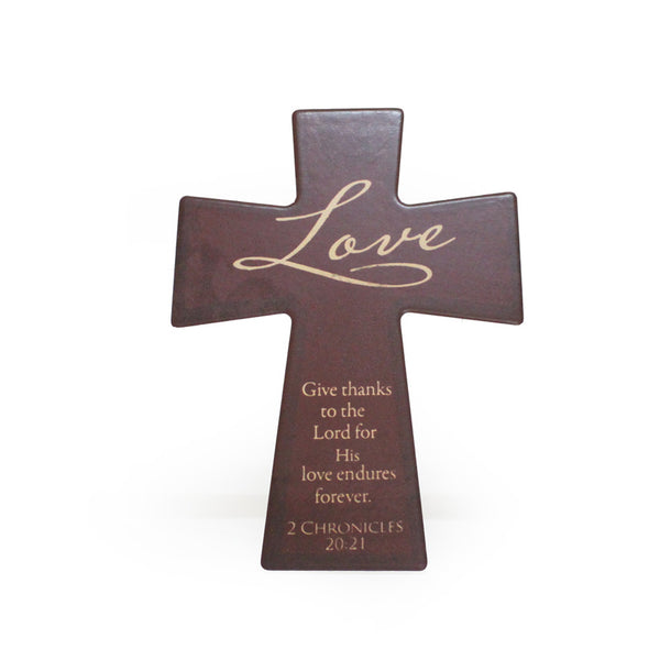Ceramic Wall/Table Cross - Love