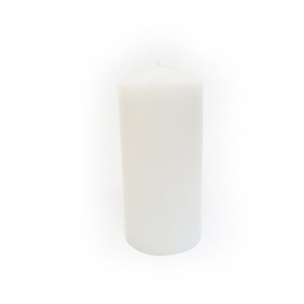 White Block Candle - 7cm