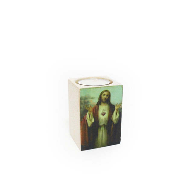 Ceramic Tealight Holder - Sacred Heart ofJesus