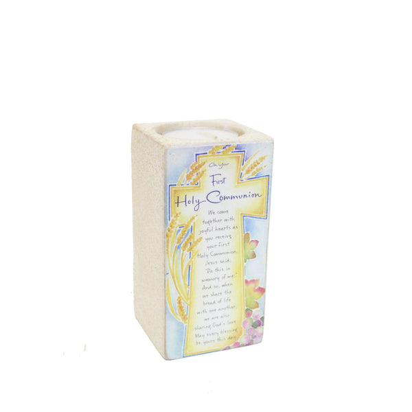 Ceramic Tealight Holder - First Holy Communion