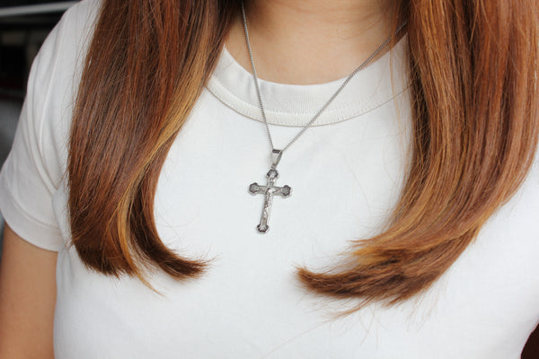 Stainless Steel  Crucifix/Chain