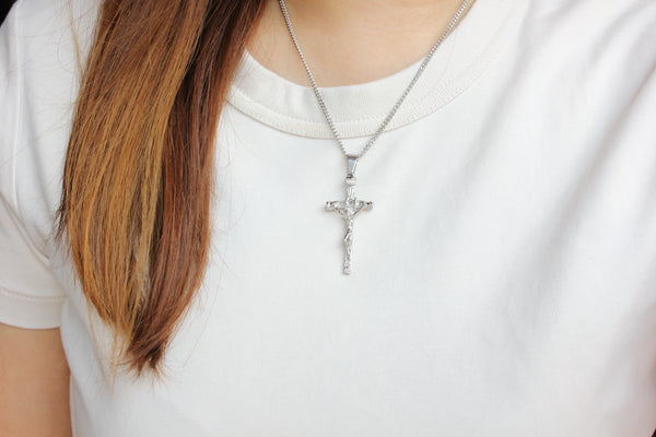 Stainless Steel Papal Crucifix/Chain