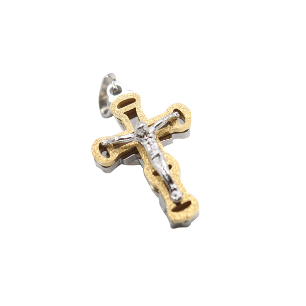 Stainless Steel  Crucifix (Gold Cross)