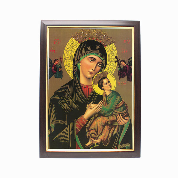 Wood Framed Picture - Mother of Perpetual Help