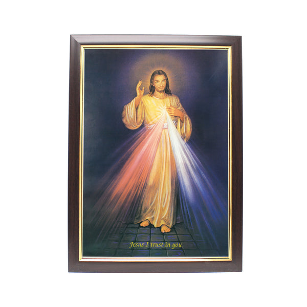 Wood Framed Picture - Divine Mercy