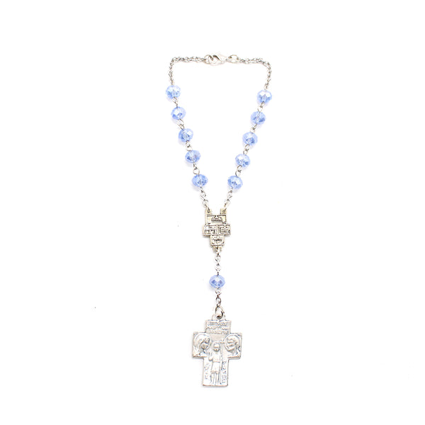 Car Rosary  Korean Crystal (Blue)