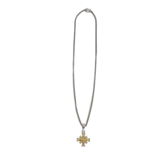 Stainless Steel  Jerusalem Crucifix/Chain