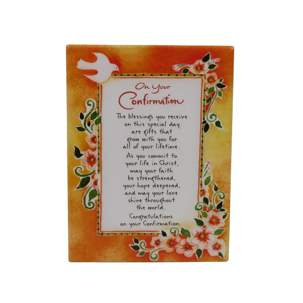 Ceramic Confirmation Plaque