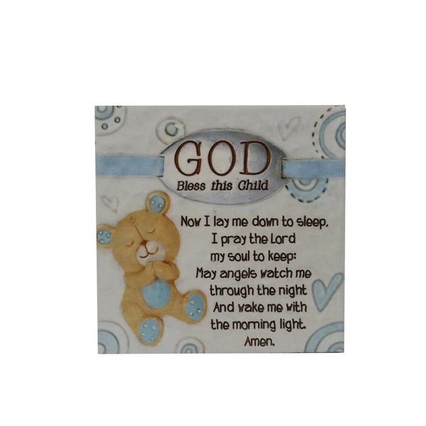 Ceramic Inspirational Plaque - God bless this child