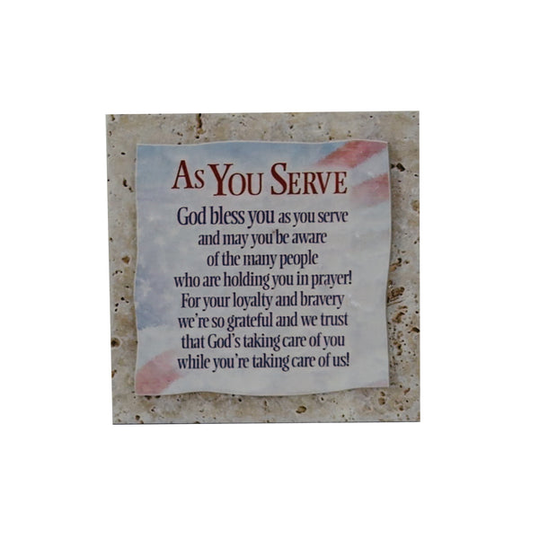Ceramic Inspirational Plaque - As You Serve