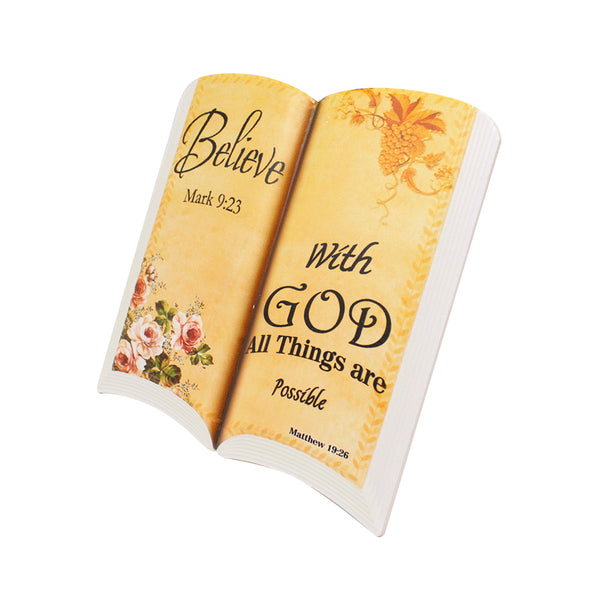 Stone Book Plaque - Believe, With God all things are possible