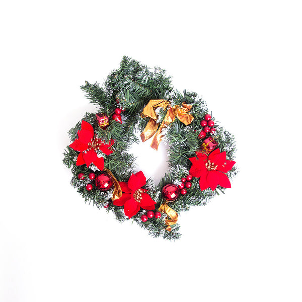 Christmas Door Wreath 16""